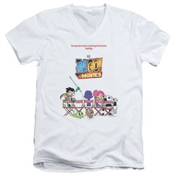 Teen Titans Go To The Movies - Mens Poster V-Neck T-Shirt