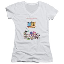 Teen Titans Go To The Movies - Juniors Poster V-Neck T-Shirt