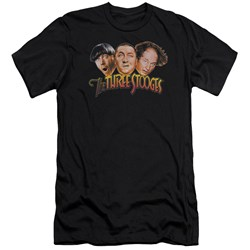 Three Stooges - Mens Three Head Logo Premium Slim Fit T-Shirt