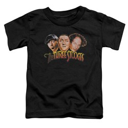 Three Stooges - Toddlers Three Head Logo T-Shirt