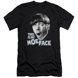Three Stooges - Mens Moe Face Premium Slim Fit T-Shirt