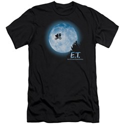 Et - Mens Moon Scene Premium Slim Fit T-Shirt