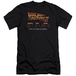 Back To The Future Ii - Mens Future Is Here Premium Slim Fit T-Shirt