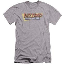 Fast Times Ridgemont High - Mens Distressed Logo Premium Slim Fit T-Shirt