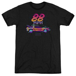 Back To The Future - Mens 88 Mph Ringer T-Shirt