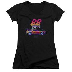 Back To The Future - Juniors 88 Mph V-Neck T-Shirt