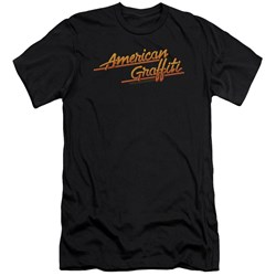 American Grafitti - Mens Neon Logo Premium Slim Fit T-Shirt