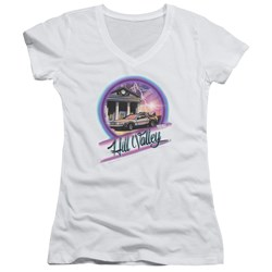 Back To The Future - Juniors Ride V-Neck T-Shirt