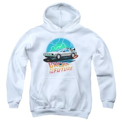 Back To The Future - Youth Bttf Airbrush Pullover Hoodie