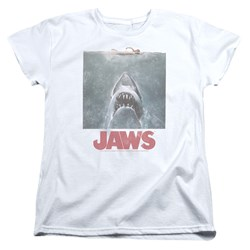 Jaws - Womens Distressed Jaws T-Shirt