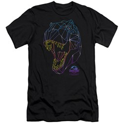 Jurassic Park - Mens Neon T-Rex Premium Slim Fit T-Shirt