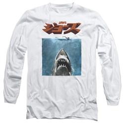 Jaws - Mens Japanese Poster Long Sleeve T-Shirt