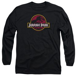Jurassic Park - Mens 8-Bit Logo Long Sleeve T-Shirt