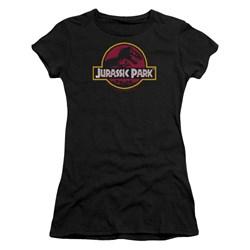 Jurassic Park - Juniors 8-Bit Logo T-Shirt