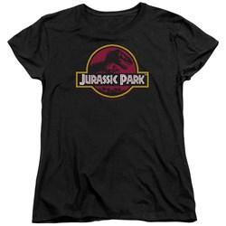 Jurassic Park - Womens 8-Bit Logo T-Shirt