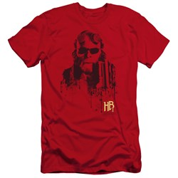 Hellboy Ii - Mens Splatter Gun Premium Slim Fit T-Shirt