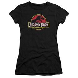 Jurassic Park - Juniors 25Th Anniversary Logo Premium Bella T-Shirt