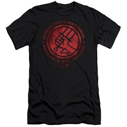 Hellboy Ii - Mens Bprd Logo Premium Slim Fit T-Shirt