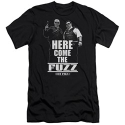 Hot Fuzz - Mens Here Come The Fuzz Premium Slim Fit T-Shirt