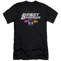 2 Fast 2 Furious - Mens Logo Premium Slim Fit T-Shirt