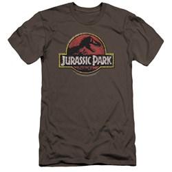Jurassic Park - Mens Stone Logo Premium Slim Fit T-Shirt
