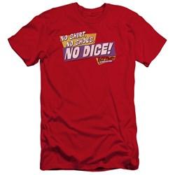 Fast Times Ridgemont High - Mens No Dice Premium Slim Fit T-Shirt