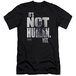 Thing - Mens Not Human Yet Premium Slim Fit T-Shirt