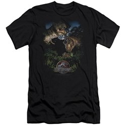 Jurassic Park - Mens Happy Family Premium Slim Fit T-Shirt