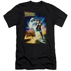 Back To The Future - Mens Poster Premium Slim Fit T-Shirt