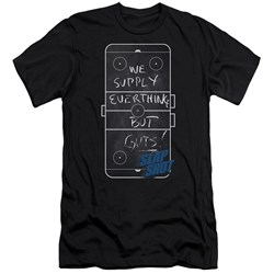 Slap Shot - Mens Chalkboard Premium Slim Fit T-Shirt