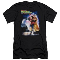 Back To The Future Ii - Mens Poster Premium Slim Fit T-Shirt
