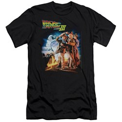 Back To The Future Iii - Mens Poster Premium Slim Fit T-Shirt
