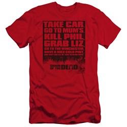 Shaun Of The Dead - Mens List Premium Slim Fit T-Shirt