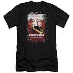 Shaun Of The Dead - Mens Poster Premium Slim Fit T-Shirt