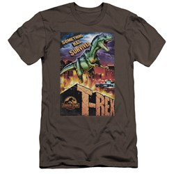 Jurassic Park - Mens Rex In The City Premium Slim Fit T-Shirt