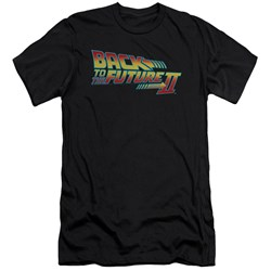 Back To The Future Ii - Mens Logo Premium Slim Fit T-Shirt