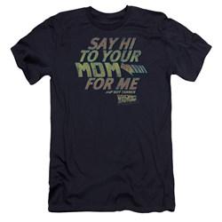 Back To The Future - Mens Say Hi Premium Slim Fit T-Shirt