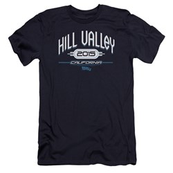 Back To The Future Ii - Mens Hill Valley 2015 Premium Slim Fit T-Shirt