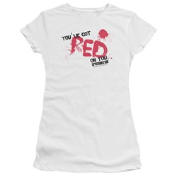 Shaun Of The Dead - Juniors Red On You Premium Bella T-Shirt