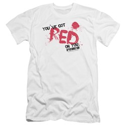 Shaun Of The Dead - Mens Red On You Premium Slim Fit T-Shirt