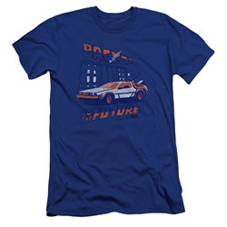 Back To The Future - Mens Lightning Strikes Premium Slim Fit T-Shirt