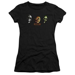 Halloween Iii - Juniors Three Masks Premium Bella T-Shirt