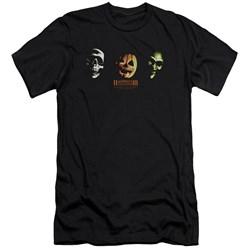Halloween Iii - Mens Three Masks Premium Slim Fit T-Shirt