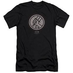 Hellboy Ii - Mens Mignola Style Logo Premium Slim Fit T-Shirt