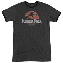 Jurassic Park - Mens Faded Logo Ringer T-Shirt