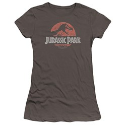 Jurassic Park - Juniors Faded Logo Premium Bella T-Shirt