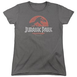 Jurassic Park - Womens Faded Logo T-Shirt
