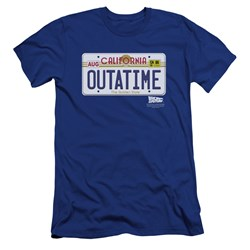 Back To The Future - Mens Outatime Plate Premium Slim Fit T-Shirt