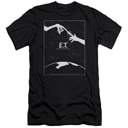 Et - Mens Simple Poster Premium Slim Fit T-Shirt