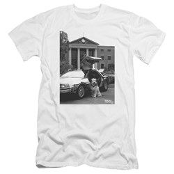 Back To The Future Ii - Mens Einstein Premium Slim Fit T-Shirt